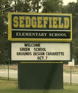 sign for sedgefield elementary school