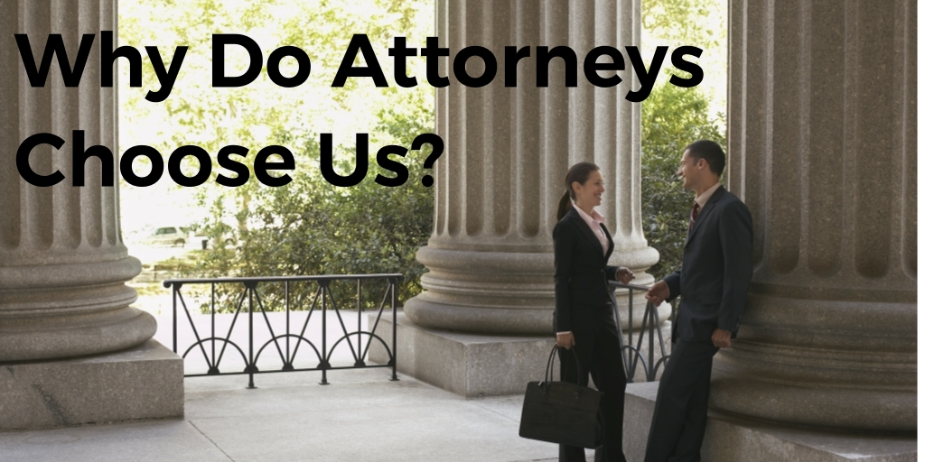 attorneys with text that says why do attorneys choose us?